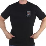 Чёрная футболка с термотрансфером ФСБ России
