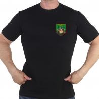 Чёрная футболка с термотрансфером пограничных войск