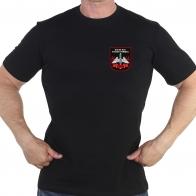 Чёрная футболка с термотрансфером РВСН