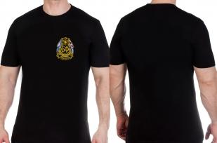 Черная футболка с вышитым шевроном Балтийского флота купить оптом