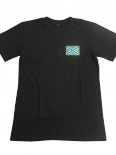 Черная футболка с вышивкой Морчасти Погранвойск РФ