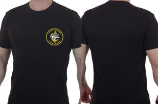 Черная футболка с вышивкой Морская Пехота 810-я ОБрМП - заказать в подарок