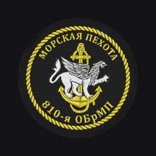 Черная футболка с вышивкой Морская Пехота 810-я ОБрМП - заказать оптом