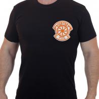 Черная футболка с вышивкой Святая Русь