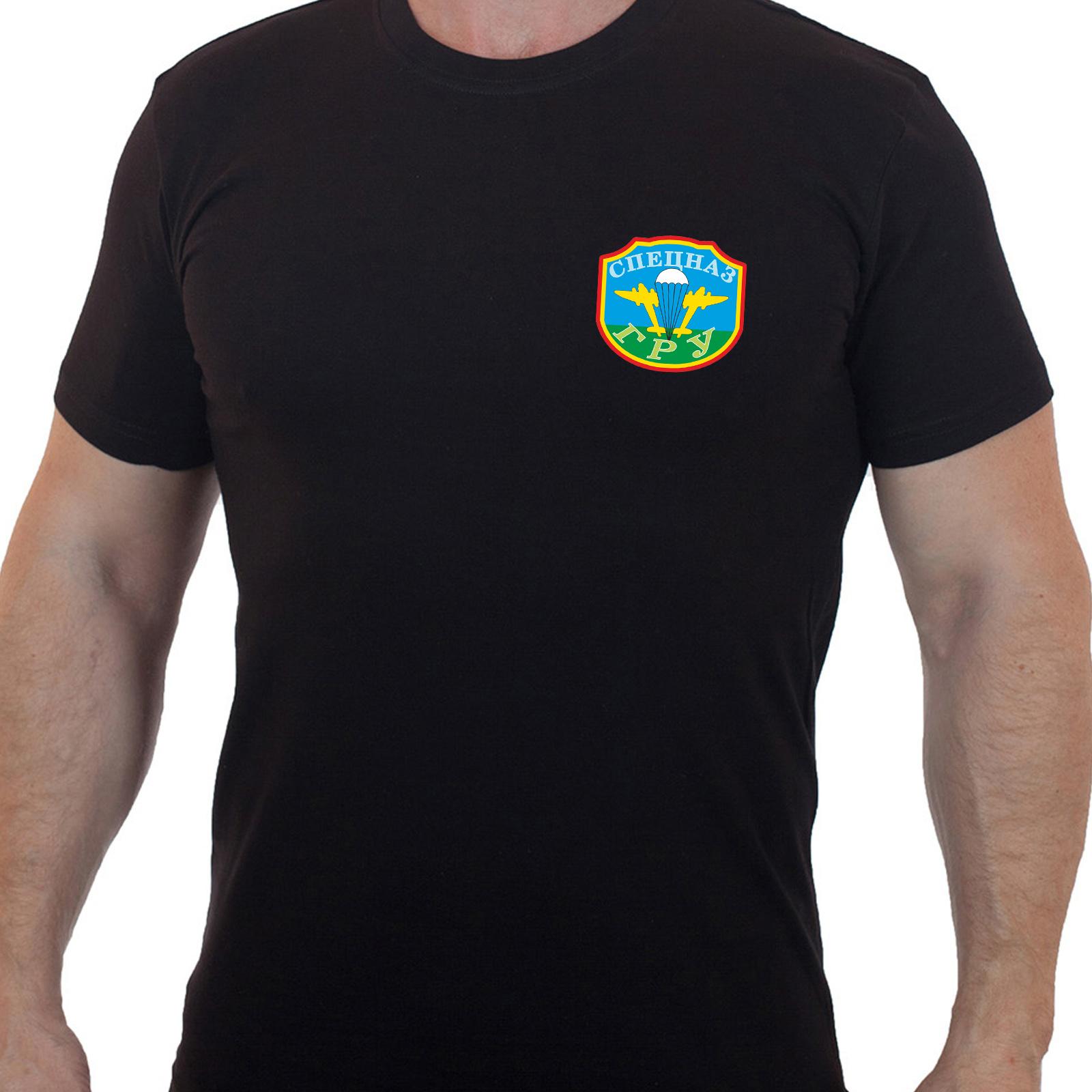 Чёрная футболка спецназа ГРУ
