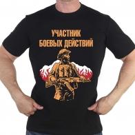 Чёрная футболка Участник боевых действий