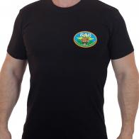 Чёрная футболка ВДВ с головой тигра