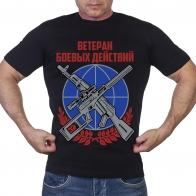 Черная футболка Ветерану боевых действий