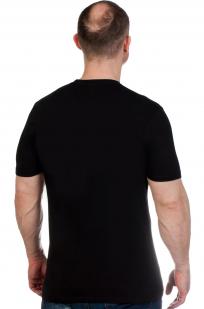 Черная футболка ВМФ с Андреевским флагом от Военпро