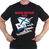 Чёрная футболка Военно-морской флот