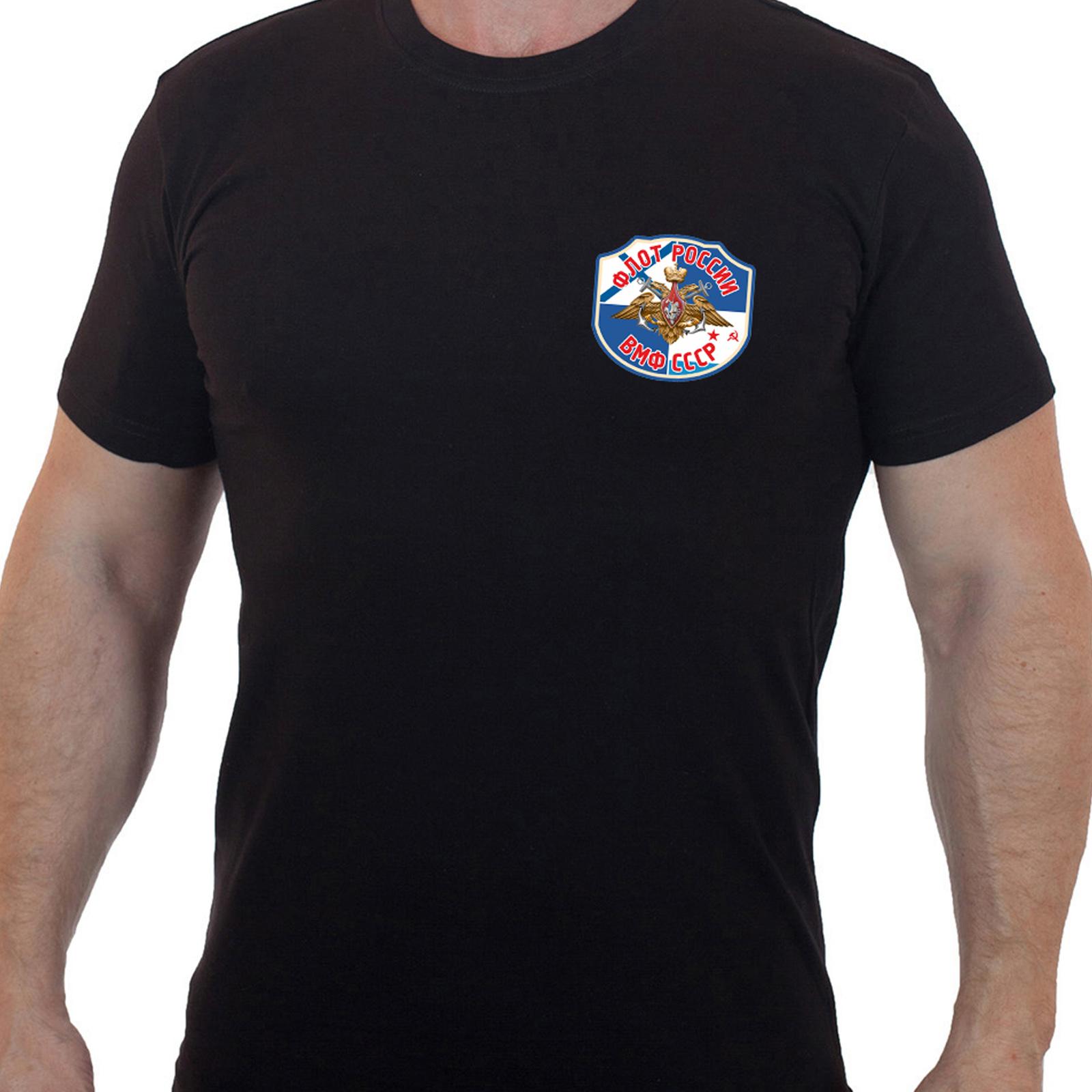 """Черная футболка """"Военно-Морской флот"""""""