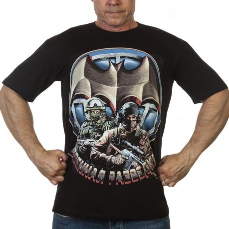 Черная футболка Военные разведчики