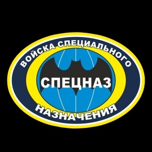 """Чёрная футболка """"Войска специального назначения"""""""