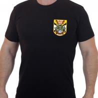 Чёрная футболка Войска связи