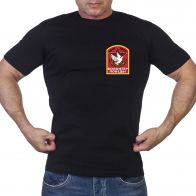 Черная футболка Волонтер победы 1941-1945