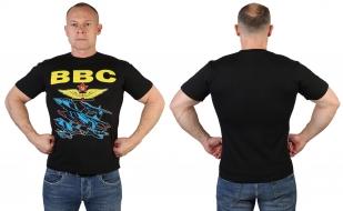 Черная мужская футболка ВВС