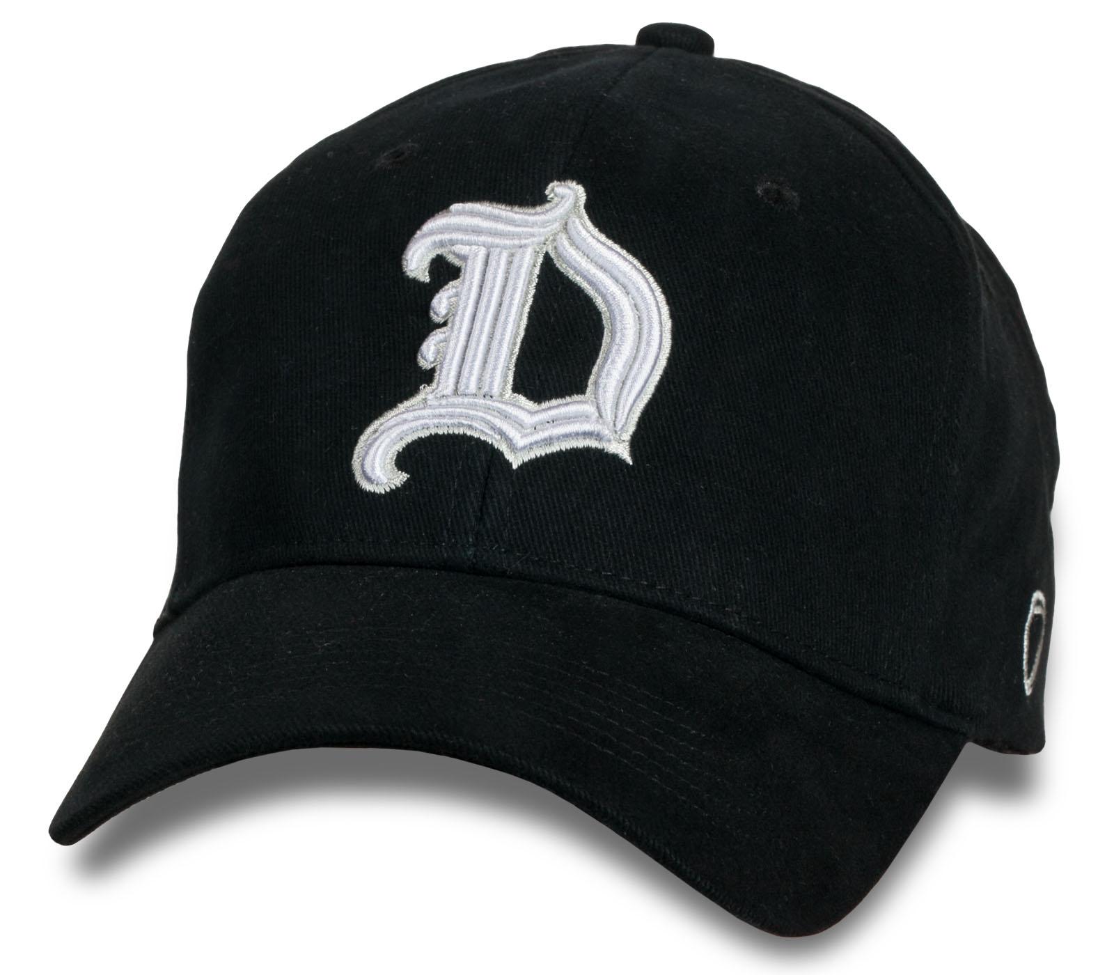 Черная кепка-бейсболка Due.