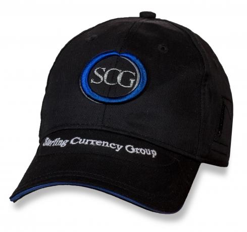Черная кепка-бейсболка Sterling Currency Group.