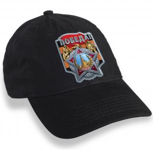 Черная кепка для праздничных демонстраций на 75 лет Победы