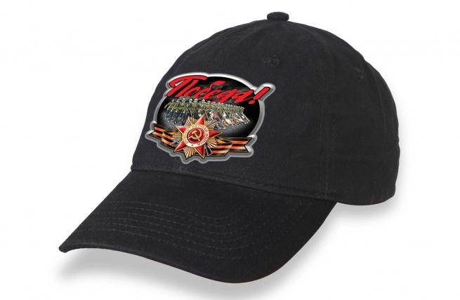 Черная кепка для участия в шествиях на 9 мая