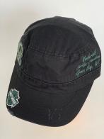 Черная кепка-немка Harley-Davidson с бирюзовой вышивкой