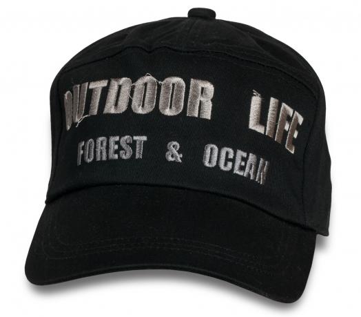 Черная кепка-немка Outdoor Life