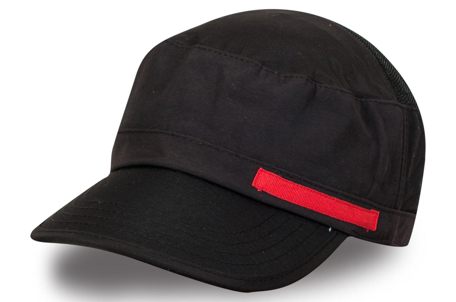 Чёрная кепка-немка с сеткой - купить по низкой цене
