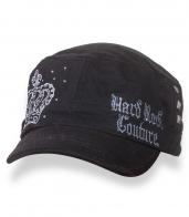 Черная кепка-немка с вышивкой Hard Rock Couture