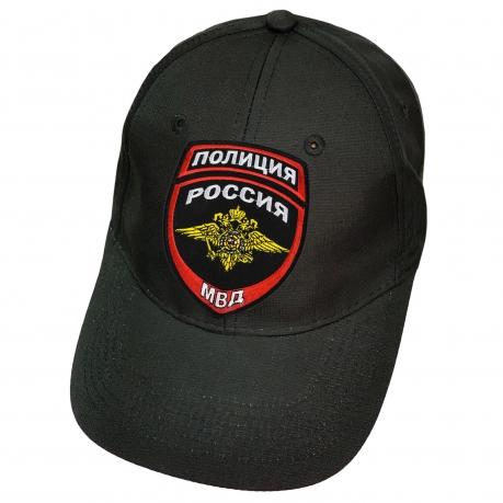 Чёрная кепка Полиция
