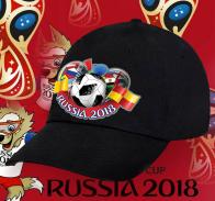 Черная кепка Russia 2018 для фанатов.