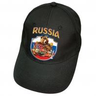 Чёрная кепка Russia