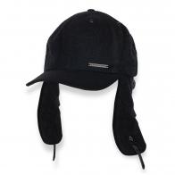 Черная кепка с длинными ушами