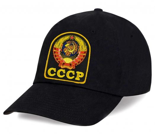Черная кепка с Гербом СССР