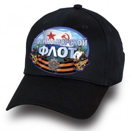 Черная кепка с принтом ВМФ