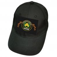 Чёрная кепка с шевроном танковых войск