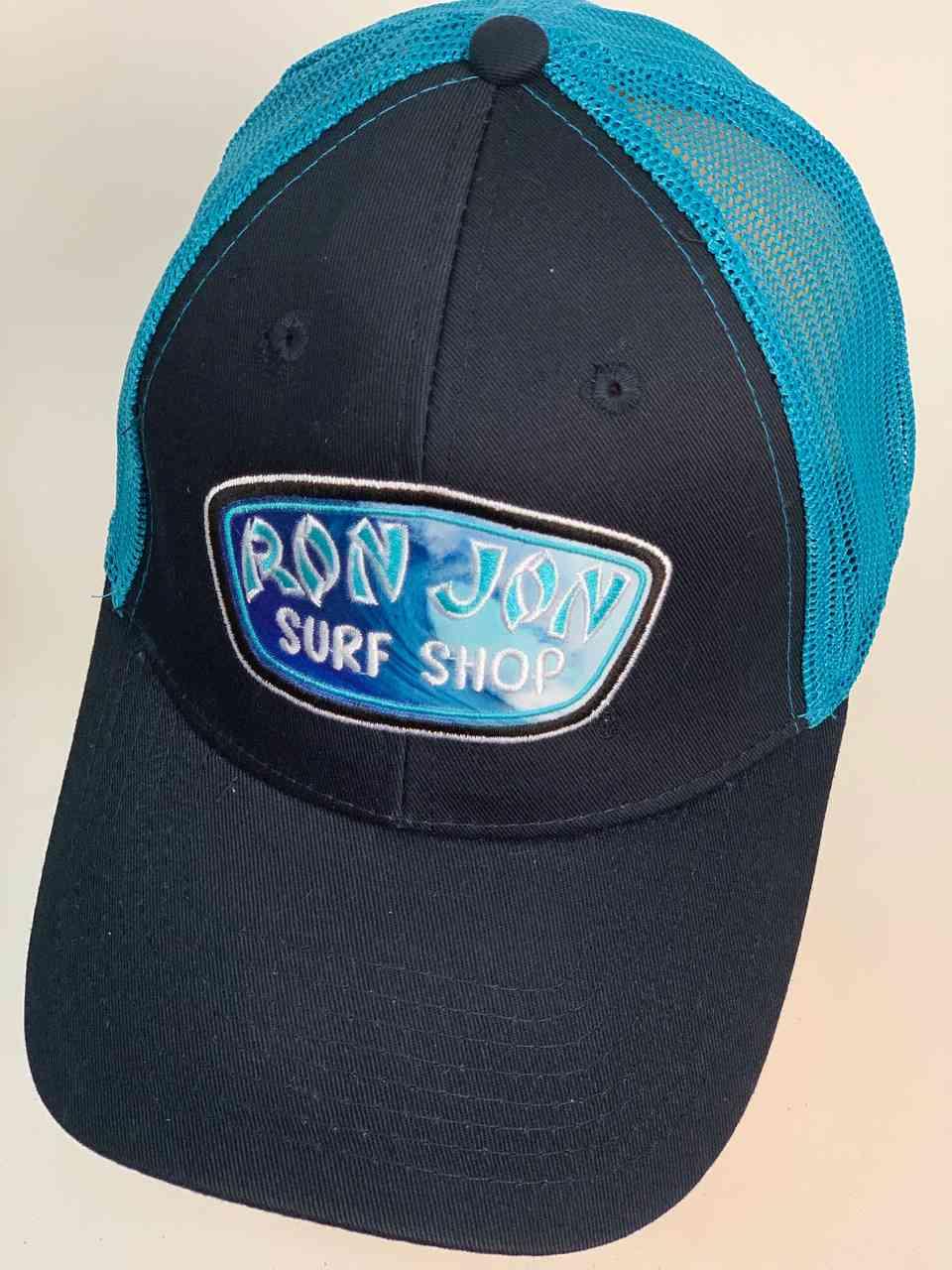 Чёрная кепка с синей сеткой RON JON