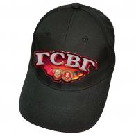 Чёрная кепка с термоаппликацией ГСВГ