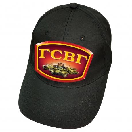 Чёрная кепка с термотрансфером ГСВГ