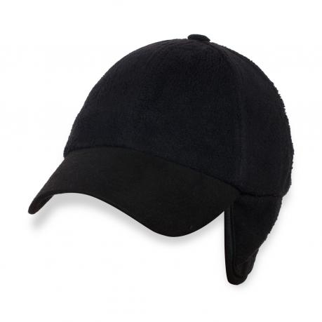 Черная кепка с ушками