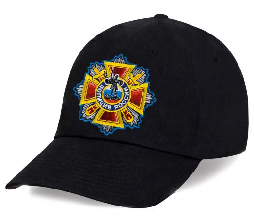 Черная кепка с вышивкой Полиция России