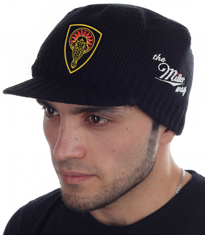 Черная кепка-шапка Miller Way с нашивкой Даждьбог - купить онлайн