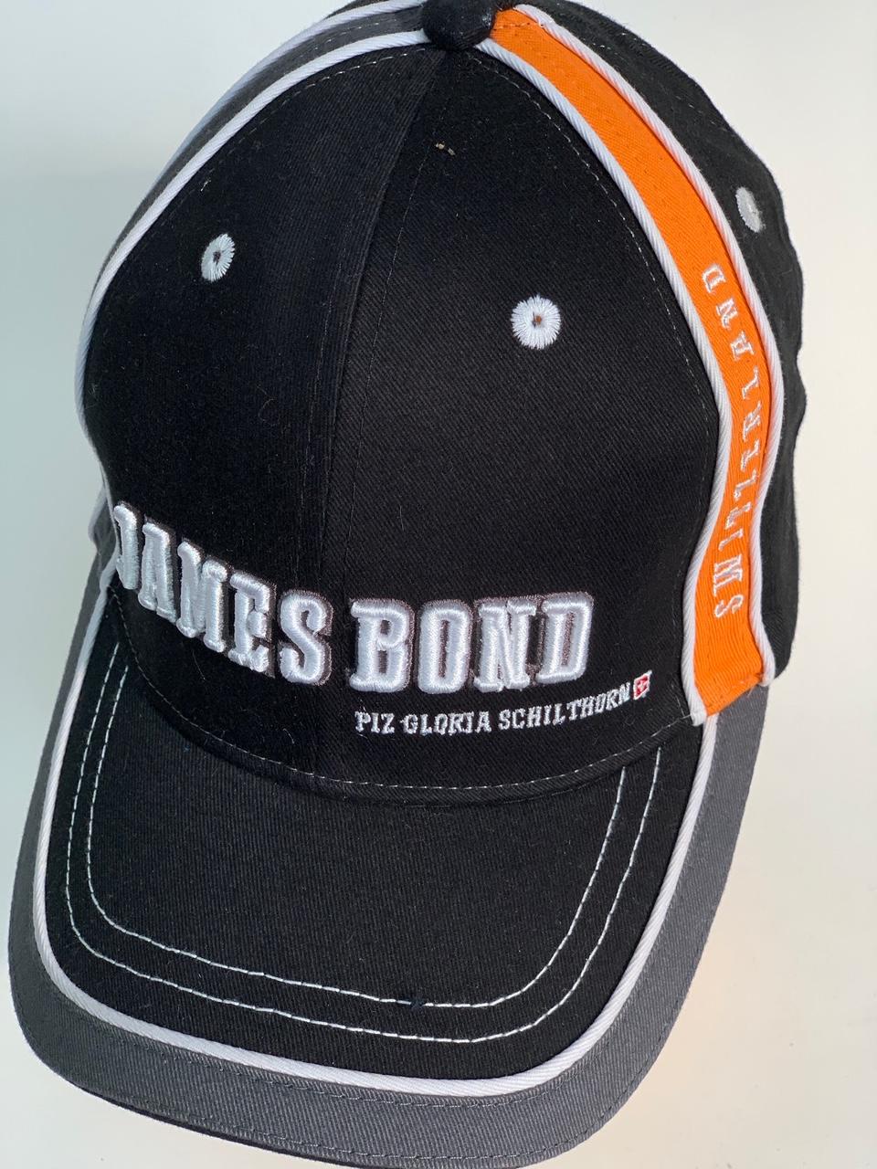 Черная комбинированная бейсболка James Bond