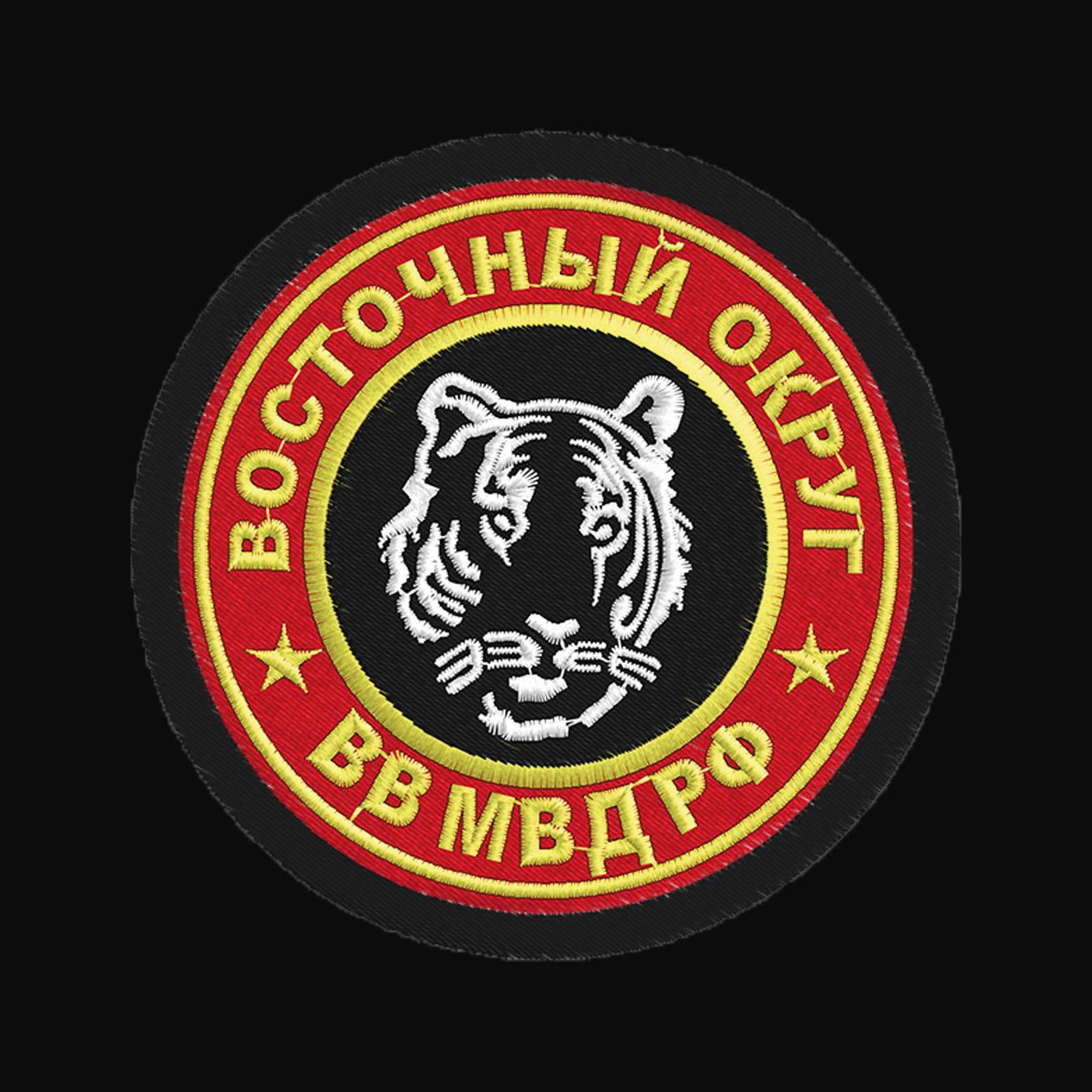 Черная крутая толстовка с символикой ВВ МВД на груди и спине