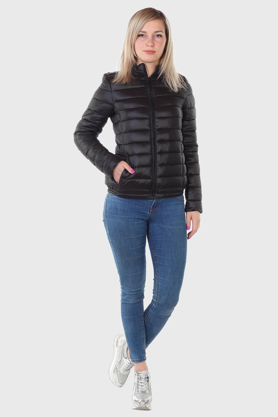 Укороченная женская курточка на молнии