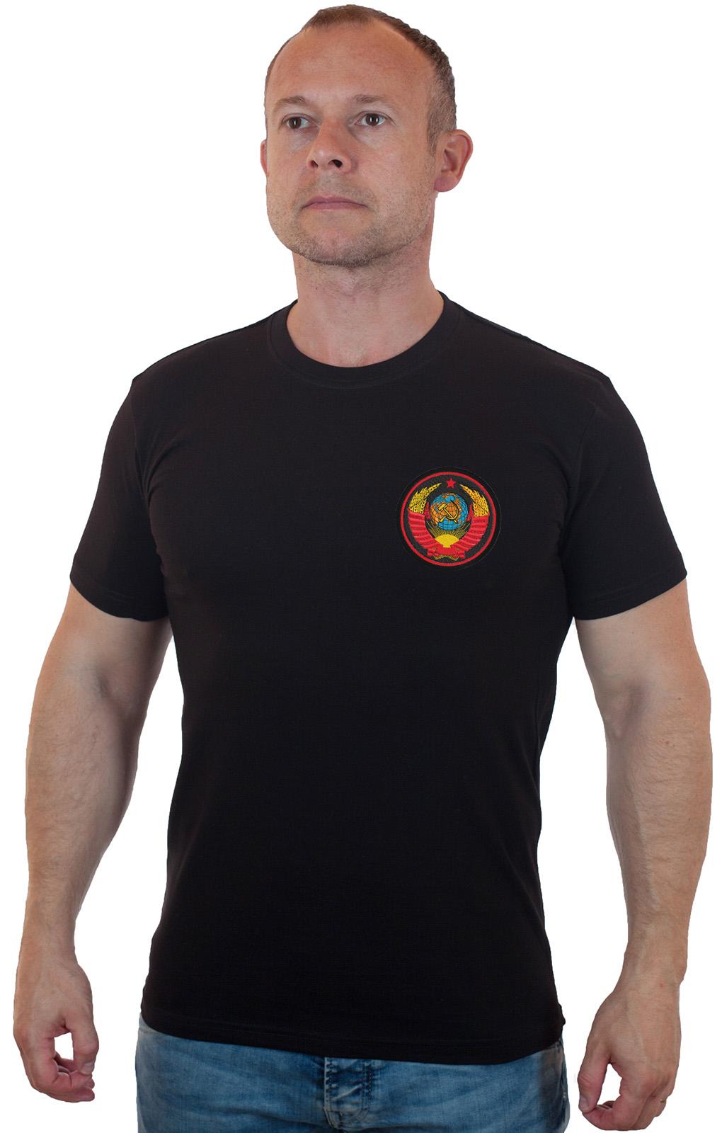 Заказать в Москве мужскую футболку с вышивкой СССР