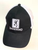 Черная летняя бейсболка Browning с белой сеткой и вышивкой