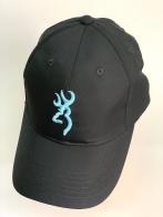Черная летняя бейсболка Browning с голубой 3-D вышивкой