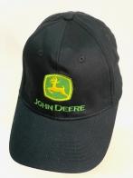 Черная летняя бейсболка John Deere с желто-зеленой вышивкой