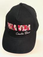 Черная летняя бейсболка Pura Vida с цветной нашивкой