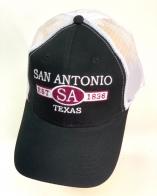Черная летняя бейсболка San Antonio с белой сеткой